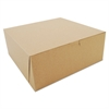 SCT Bakery Boxes, Kraft, Paperboard, 10 x 10 x 4, 100/Bundle