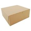 Bakery Boxes, Kraft, Paperboard, 10 x 10 x 4, 100/Bundle