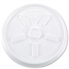 Dart Vented Plastic Hot Cup Lids, 10JL, 10 oz., White, 1000/Carton