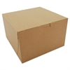 SCT Bakery Boxes, Kraft, Paperboard, 8 x 8 x 5, 100/Carton