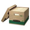 Bankers Box STOR/FILE Extra Strength Storage Box, Letter/Legal, Kraft/Green, 12/Carton