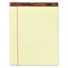 The Legal Pad Ruled Perforated Pads, 8 1/2 x 11 3/4, Green Tint, 50 Sheets