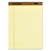 TOPS The Legal Pad Ruled Perforated Pads, 8 1/2 x 11 3/4, Canary, 50 Sheets, Dozen