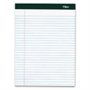 Double Docket Ruled Pads, 8 1/2 x 11 3/4, White, 100 Sheets, 4 Pads/Pack
