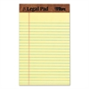 The Legal Pad Ruled Perforated Pads, 5 x 8, Canary, 50 Sheets, Dozen