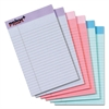 Prism Plus Colored Legal Pads, 5 x 8, Pastels, 50 Sheets, 6 Pads/Pack
