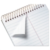 Gold Fibre Spiral Steno Book, Gregg, 6 x 9, White/Green, 100 Sheets