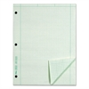 Engineering Computation Pad, Grid to Edge, 8 1/2 x 11, Green, 100 Sheets