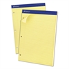 Double Sheets Pad, Narrow/Margin Pad, 8 1/2 x 11 3/4, Canary, 100 Sheets