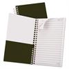 Gold Fibre Personal Notebook, College/Medium, 7 x 5, Classic Green, 100 Sheets