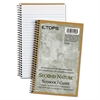 TOPS Second Nature Subject Wirebound Notebook, Narrow, 8 x 5, White, 80 Sheets