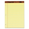 The Legal Pad Ruled Perf Pad, Legal/Wide, 11 3/4 x 8 1/2, Canary, 50 Sheets, DZ