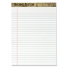 TOPS Second Nature Recycled Letter Pads, Lgl/Red Margin Rule, White, 50 Sheets, Dozen