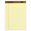TOPS The Legal Pad Ruled Perforated Pads, 8 1/2 x 11, Canary, 50 Sheets, 3 Pads/Pack