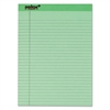 TOPS Prism Plus Colored Legal Pads, 8 1/2 x 11 3/4, Green, 50 Sheets, Dozen
