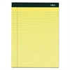 Double Docket Ruled Pads, 8 1/2 x 11 3/4, Canary, 100 Sheets, 6 Pads/Pack