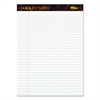 Docket Ruled Perforated Pads, Legal/Wide, 8 1/2 x 11 3/4, White, 50 Sheets, DZ