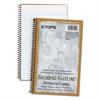 TOPS Second Nature Subject Wire Notebook, College/Medium, 9 1/2 x 6, White, 80 Sheets