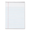 Docket Wirebound Ruled Pad w/Cover, 8 1/2 x 11 3/4, White, 70 Sheets