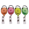 "Advantus Carabiner-Style Retractable ID Card Reel, 30"" Extension, Assorted Neon, 20/Pack"