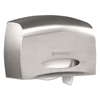 KIMBERLY-CLARK PROFESSIONAL* Coreless JRT Jr. Bath Tissue Dispenser, EZ Load, 6x9.8x14.3, Stainless Steel