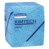 KIMTEX Wipers, 1/4 Fold, 12 1/2 x 13, Blue, 66/Box, 8 Boxes/Carton