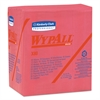 WypAll* X80 Wipers, 1/4 Fold, HYDROKNIT, 12 1/2 x 13, Red, 50/Box, 4 Boxes/Carton