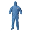 KleenGuard* A60 Blood and Chemical Splash Protection Coveralls, 3X-Large, Blue, 20/Carton