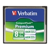 Verbatim Premium CompactFlash Memory Card, 8GB, 66X Read Speed/60X Write Speed