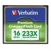 Verbatim Premium CompactFlash Memory Card, 16GB, 233X Maximum Transfer Rate