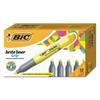 BIC Brite Liner Grip Highlighter, Chisel Tip, Fluorescent Yellow, Dozen