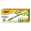 BIC Brite Liner + Highlighter, Chisel Tip, Fluorescent Yellow, Dozen