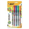 BIC Brite Liner + Highlighter, Chisel Tip, Assorted Colors, 5/Set