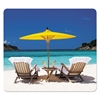 Recycled Mouse Pads, Caribbean Beach Design, 9 x 1/16