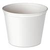Double Wrapped Paper Bucket, Unwaxed, White, 83oz, 100/Carton