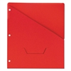 Universal Slash-Cut Pockets for Three-Ring Binders, Jacket, Letter, 11 Pt., Red, 10/Pack