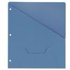 Universal Slash-Cut Pockets for Three-Ring Binders, Jacket, Letter, 11 Pt., Blue, 10/Pack
