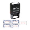 Trodat Economy 5-in-1 Date Stamp, Self-Inking, 1 x 1 5/8, Blue/Red