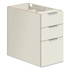 Voi Box/Box/File Support Pedestal, 16w x 24d x 28 1/2h, Brilliant White