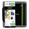 "Zipper Binder, 11 x 8 1/2, 2"" Capacity, Black"