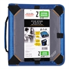 "Five Star Zipper Binder Plus Expandable Panel, 11 x 8 1/2, 2"" Capacity, Blue"