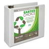 "Earth's Choice Biobased D-Ring View Binder, 4"" Cap, White"