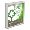 "Samsill Earth's Choice Biobased Round Ring View Binder, 1/2"" Cap, White"