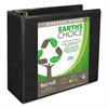 "Earth's Choice Biobased D-Ring View Binder, 5"" Cap, Black"