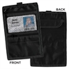 Travel ID/Document Holder, Hold 4 1/4 x 2 1/4 Cards, Black Nylon, 5/Pack