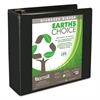 "Earth's Choice Biobased D-Ring View Binder, 4"" Cap, Black"