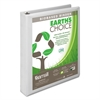 "Earth's Choice Biobased D-Ring View Binder, 1"" Cap, White"