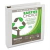 "Earth's Choice Biobased D-Ring View Binder, 1 1/2"" Cap, White"