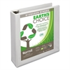 "Earth's Choice Biobased D-Ring View Binder, 2"" Cap, White"
