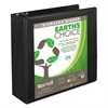 "Earth's Choice Biobased Round Ring View Binder, 3"" Cap, Black"